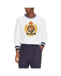 Polo Ralph Lauren Crest Sweatshirt in White für Herren