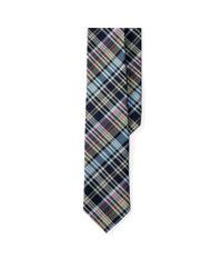 Polo Ralph Lauren Blue Madras Plaid Cotton Tie for men