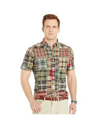 Polo Ralph Lauren | Blue Madras Short-sleeve Shirt for Men | Lyst