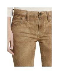 Polo Ralph Lauren Brown Tompkins Lace-up Skinny Jean
