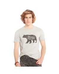 Polo Ralph Lauren - Gray Custom-fit Cotton T-shirt for Men - Lyst