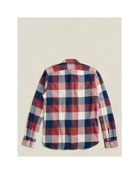 RRL - Multicolor Slim-fit Plaid Twill Workshirt for Men - Lyst
