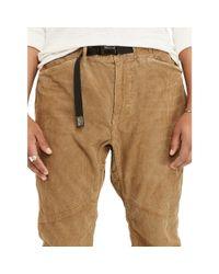 Denim & Supply Ralph Lauren Brown Relaxed Corduroy Hiking Jogger for men