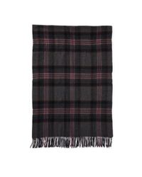 Polo Ralph Lauren - Gray Oversize Plaid Blanket Scarf - Lyst