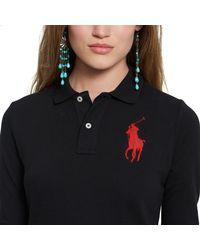 Polo Ralph Lauren | Black Skinny Fit Big Pony Polo | Lyst