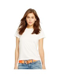 Polo Ralph Lauren - White Cotton Jersey Tee - Lyst