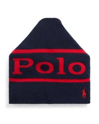 Polo Ralph Lauren Blue Graphic Logo Wool-blend Hat