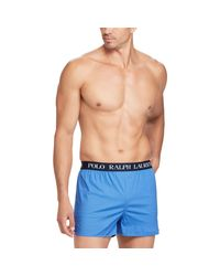 Polo Ralph Lauren Blue Slim Fit Stretch Cotton Boxer for men