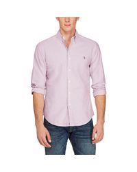 Polo Ralph Lauren - Purple Slim Fit Cotton Oxford Shirt for Men - Lyst