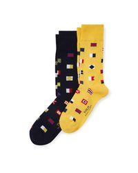 2 paires de chaussettes à pavillon Polo Ralph Lauren pour homme en coloris Multicolor