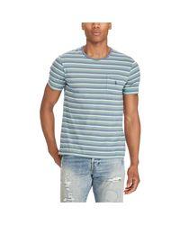 Polo Ralph Lauren - Blue Custom Slim Fit Cotton T-shirt for Men - Lyst