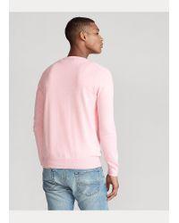 Polo Ralph Lauren Slim-Fit Baumwollpullover in Pink für Herren
