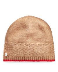 Ralph Lauren Natural Rib-knit Beanie
