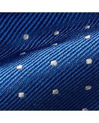 Polo Ralph Lauren - Blue Polka-dot Silk Repp Narrow Tie for Men - Lyst