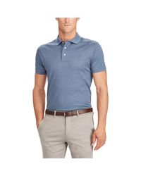 Ralph Lauren Blue Custom Slim Fit Piqué Polo Shirt for men