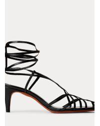 Sandales Deana en cuir Ralph Lauren en coloris Black