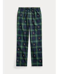 Pantalón De Pijama De Punto Jersey Polo Ralph Lauren de hombre de color Blue