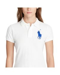 Polo Ralph Lauren - White Skinny Fit Big Pony Polo Shirt - Lyst