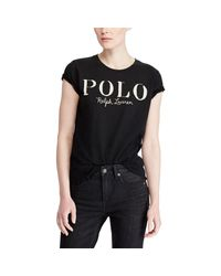Polo Ralph Lauren - Black Polo Jersey Graphic T-shirt - Lyst