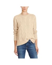 Polo Ralph Lauren Natural Boxy Cable Cotton Sweater
