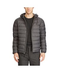 Pink Pony - Gray Packable Hooded Down Jacket for Men - Lyst