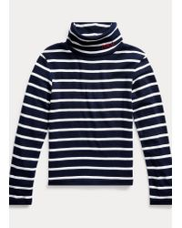 Este Jersey De Cuello Vuelto De Algodón-modal Ralph Lauren de color Blue