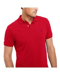 Pink Pony Red Classic Fit Stretch Mesh Polo for men