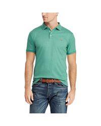 Polo Ralph Lauren Slim-Fit Interlock-Polohemd in Green für Herren