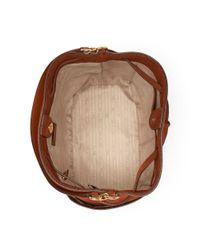 Ralph Lauren - Brown Suede Debby Drawstring Bag - Lyst