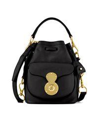Ralph Lauren Black Small Ricky Drawstring Bag