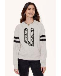 "Rebecca Minkoff Gray ""u"" Letter Sweatshirt"