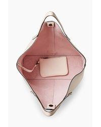 Rebecca Minkoff Pink Medium Unlined Tote Whipstitch