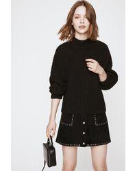 Rebecca Minkoff Black Algo Sweater