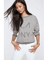 Rebecca Minkoff | Gray La Ny Sweatshirt | Lyst