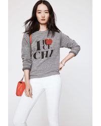 Rebecca Minkoff Gray Rock Chicago Sweatshirt