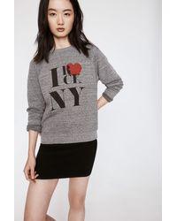 Rebecca Minkoff Gray Rock Ny Crew Sweatshirt