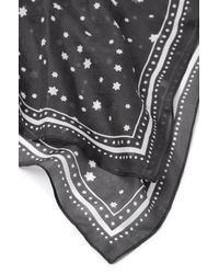 Rebecca Taylor Multicolor Scattered Star Print Scarf