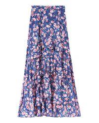 Rebecca Taylor - Blue Tea Rose Ruffle Skirt - Lyst