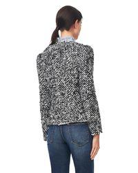 Rebecca Taylor Black Fluffy Tweed Jacket
