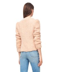 Rebecca Taylor Natural Fluffy Tweed Jacket