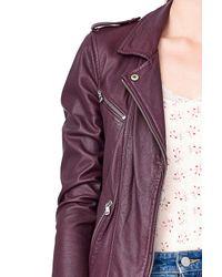 Rebecca Taylor Purple Leather Biker Jacket
