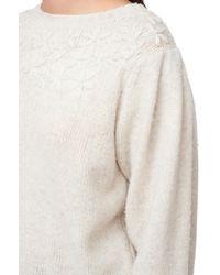 Rebecca Taylor White La Vie Embroidered Floral Pullover
