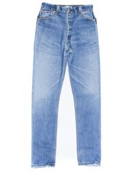Re/done - Blue High Rise for Men - Lyst