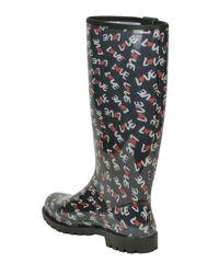Moschino - Blue Rubber Rain Boots - Lyst