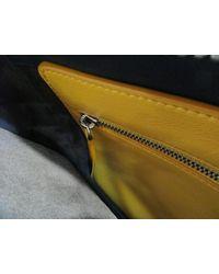 Fendi - Calfskin Leather Handbag Blue - Lyst