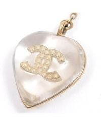 Chanel - Metallic Pin Brooch Heart Coco Champagne Gold A16p - Lyst