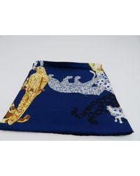 Cartier Square Scarve Silk Navy Blue 0888