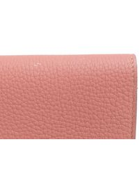 Hermès Auth Dogon Gm Long Wallet Bifold Purse Togo Leather Rosy Pink Shw