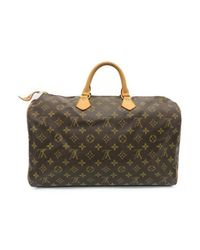 95bd6db17270 Lyst - Louis Vuitton Speedy 40 Tote Bag Monogram Canvas Brown M41522 ...