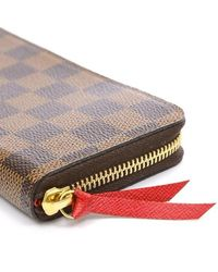 Louis Vuitton - Red Damier Portefeiulle Clemance Purse Threes S60 Need Help? - Lyst